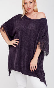 For The Night Curvy Poncho