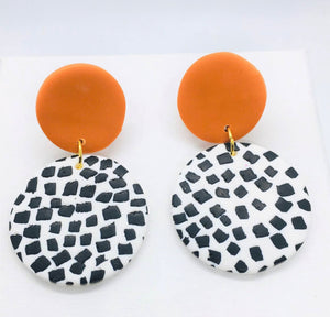 Dotty Earrings-Medium Cognac