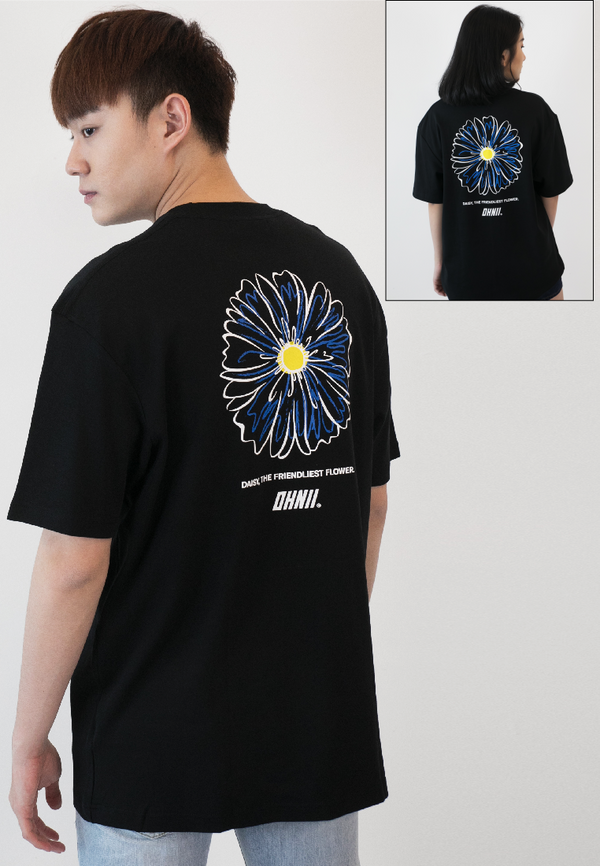 OVERSIZED PEACE DAISY PRINT COTTON JERSEY TSHIRT - Ohnii Official Site