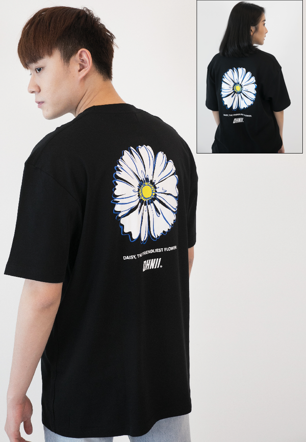 OVERSIZED HOPE DAISY PRINT COTTON JERSEY TSHIRT - Ohnii Official Site
