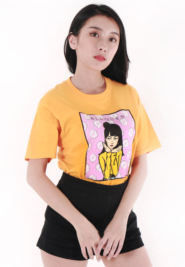 BLAQUIIN DAISIE ARROGANT GRAPHIC TEE (YL) - Ohnii Official Site