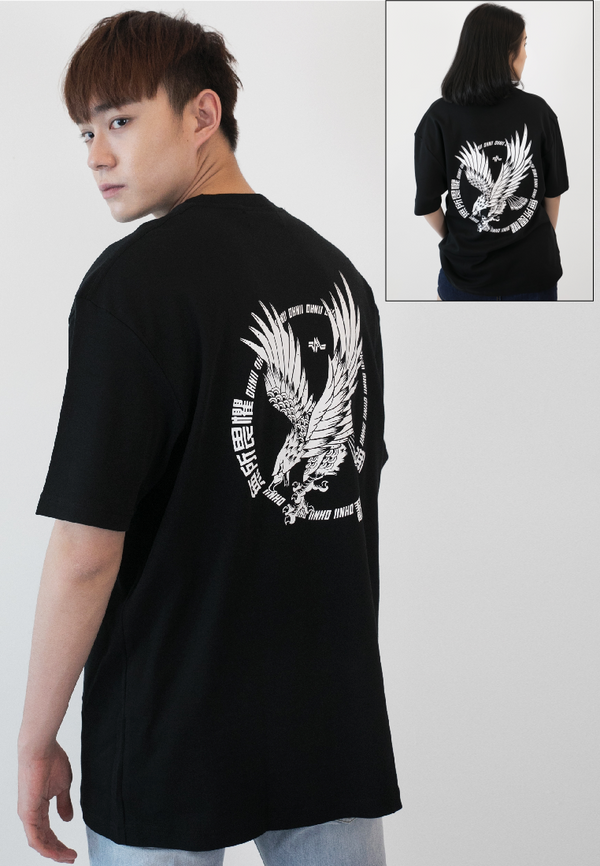 OVERSIZED LOGO FEARLESS EAGLE PRINT COTTON - Ohnii Official Site