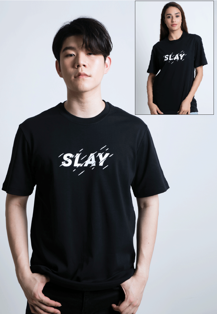 SLAY PRINT COTTON JERSEY T-SHIRT - Ohnii Official Site