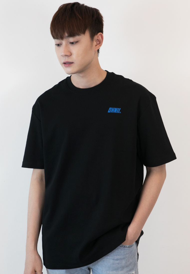 OVERSIZED BREAKTHERULES PRINT COTTON JERSEY TSHIRT - Ohnii Official Site