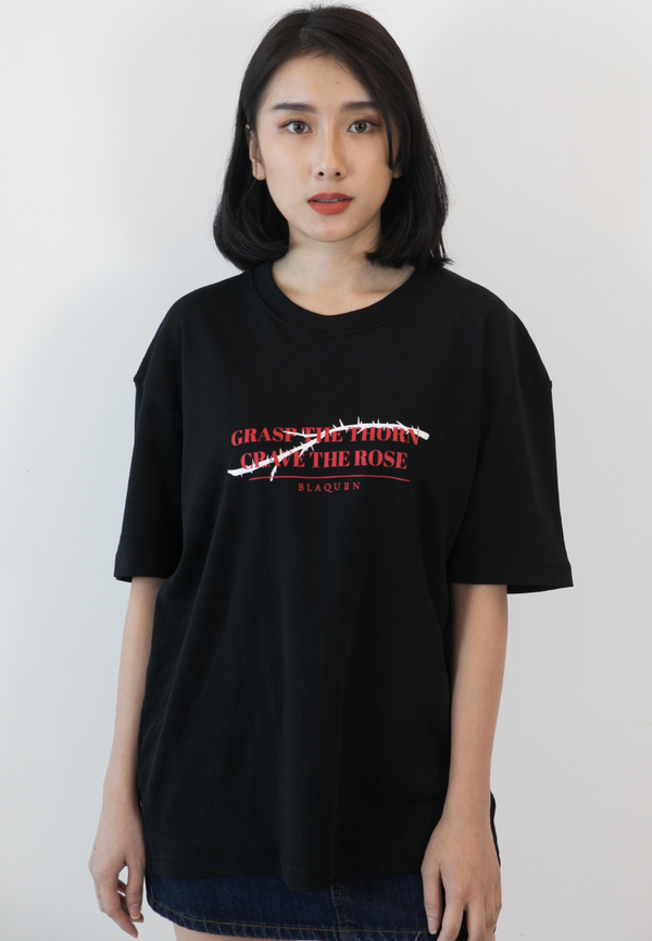 BLAQUIIN QUOTE THORN LOGO RINGER TEE - Ohnii Official Site