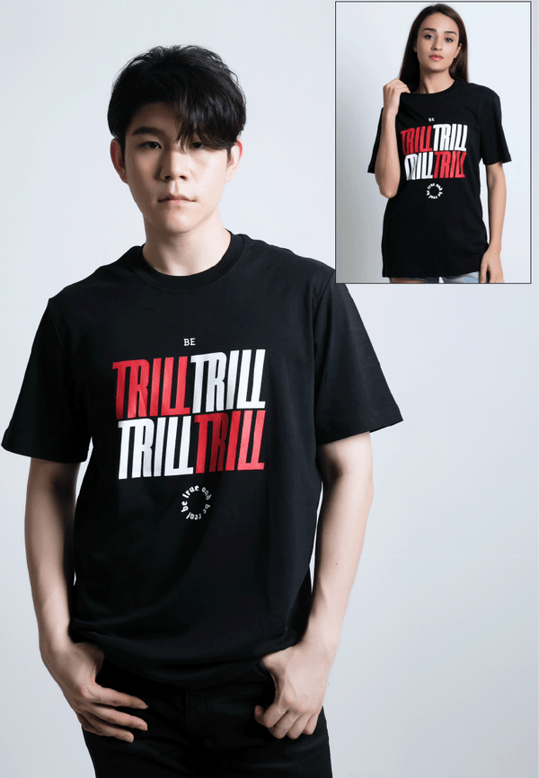 BE TRILL PRINT COTTON JERSEY T-SHIRT - Ohnii Official Site