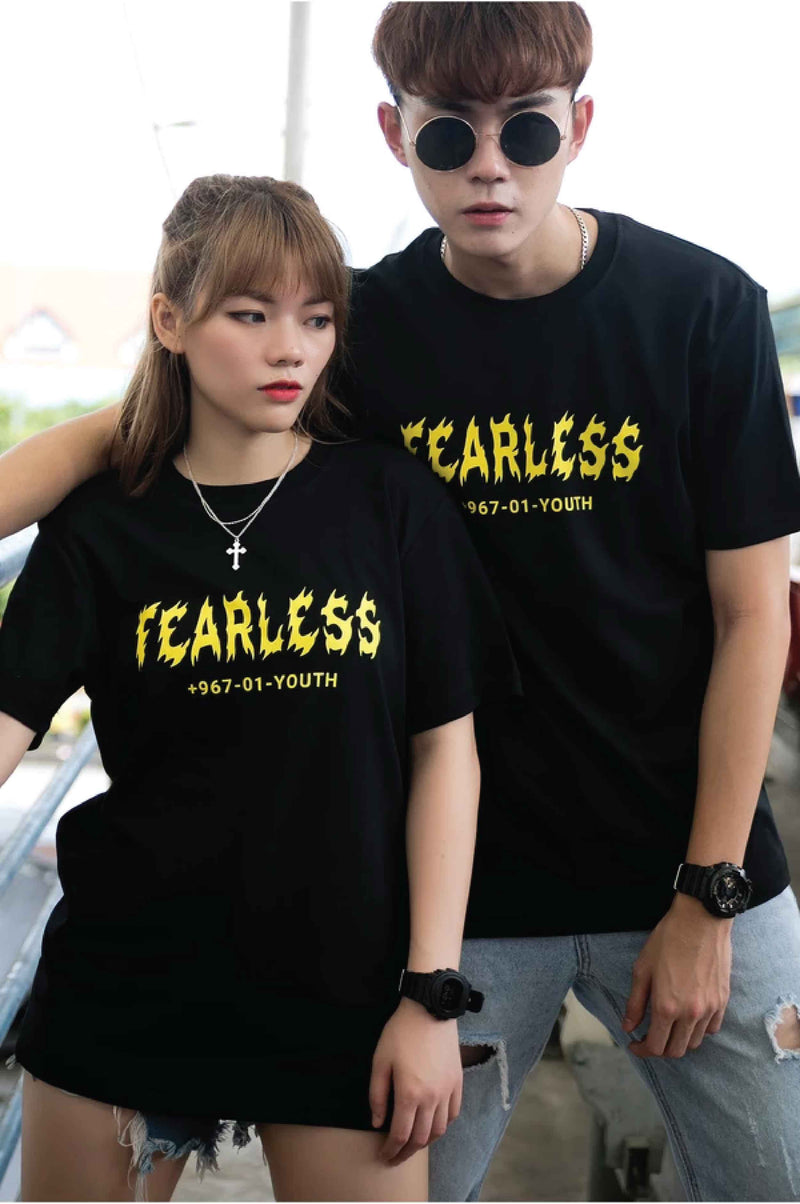FEARLESS YOUTH PRINT COTTON JERSEY T-SHIRT - Ohnii Official Site