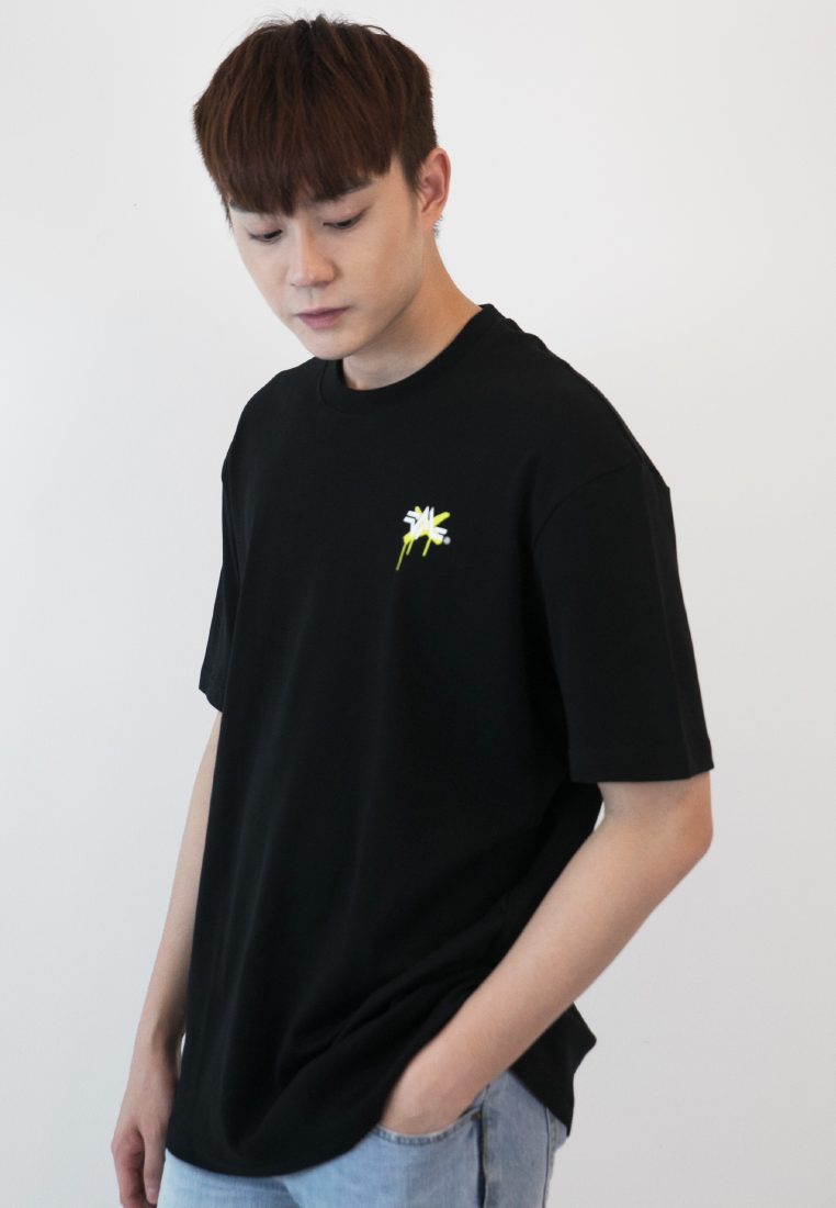 OVERSIZED HATERS GONNA HATE PRINT COTTON JERSEY TSHIRT (BL) - Ohnii Official Site