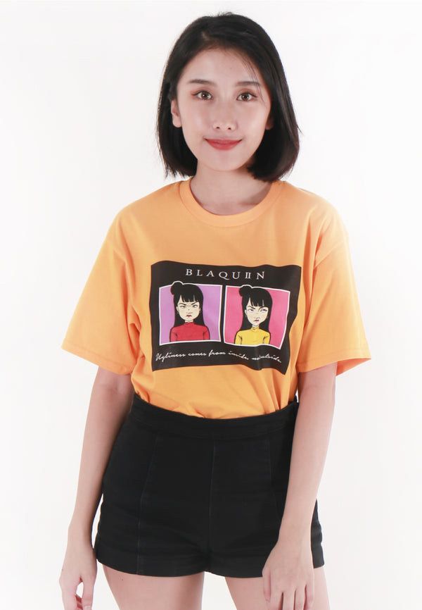 BLAQUIIN GRIMACE GRAPHIC TEE (YL) - Ohnii Official Site