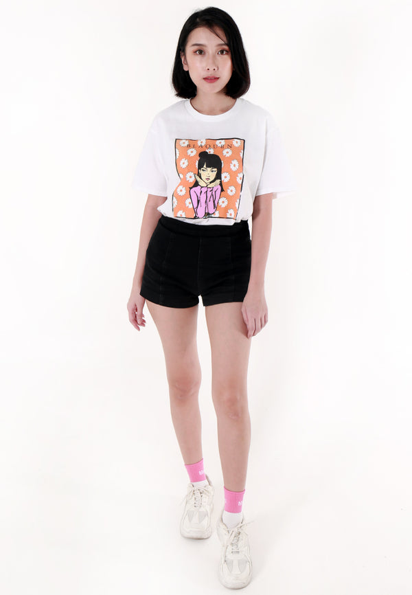 BLAQUIIN DAISIE ARROGANT GRAPHIC TEE (WH) - Ohnii Official Site