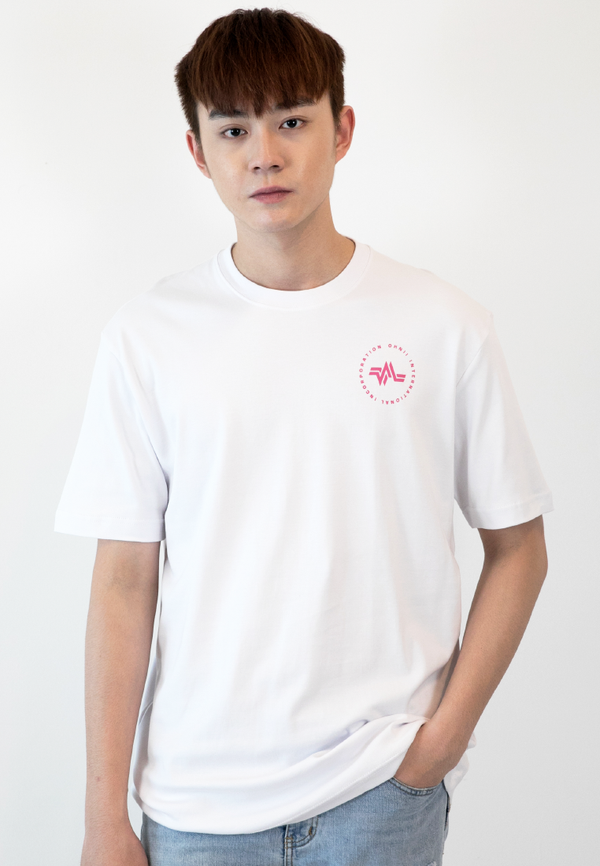 OVERSIZED LOGO CAMO PRINT COTTON JERSEY T-SHIRT (WHITE) - Ohnii Official Site