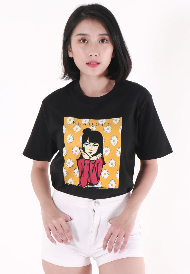 BLAQUIIN DAISIE ARROGANT GRAPHIC TEE - Ohnii Official Site