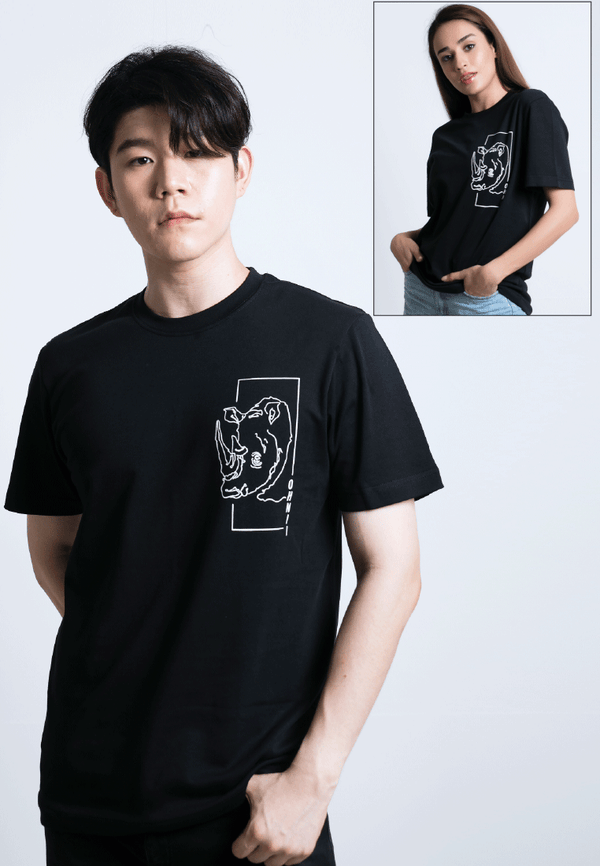 PRINTED MONOLINE FEARLESS RHINO T-SHIRT - Ohnii Official Site