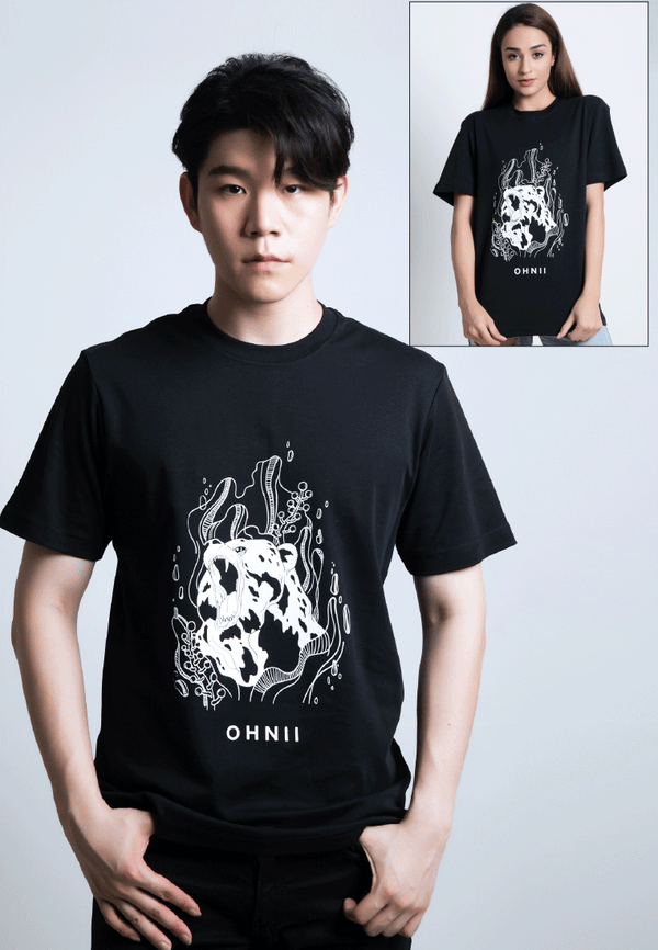 Fearless Bear-Print Cotton Jersey T-Shirt - Ohnii Official Site