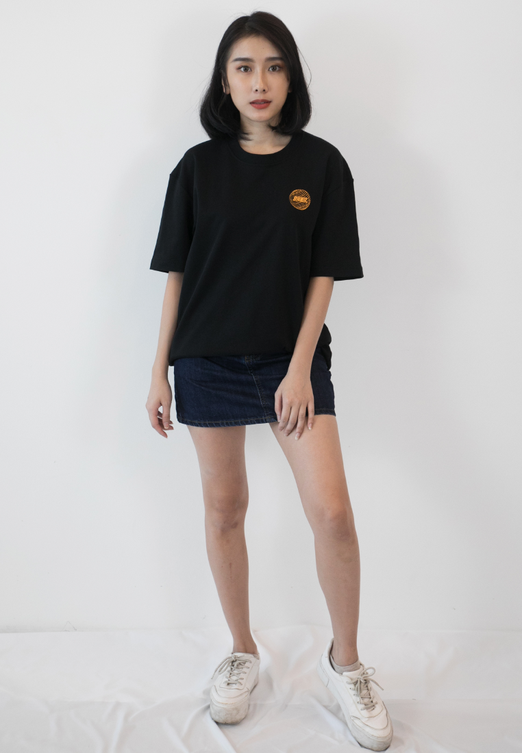 OVERSIZED FUTURISTIC PRINT COTTON JERSEY TSHIRT - Ohnii Official Site