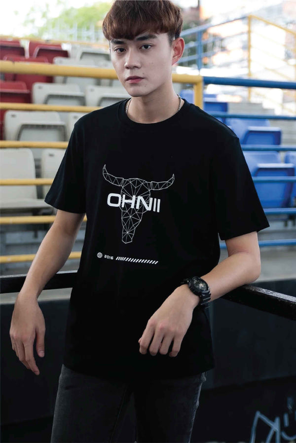LOGO BULL PRINT COTTON JERSEY T-SHIRT - Ohnii Official Site