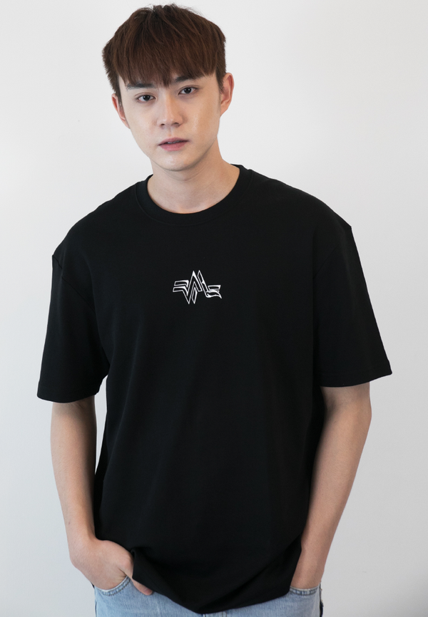 OVERSIZED KITSUNE PRINT COTTON JERSEY TSHIRT - Ohnii Official Site