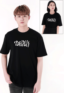OVERSIZED SLICE LOGO PRINT COTTON JERSEY T-SHIRT - Ohnii Official Site