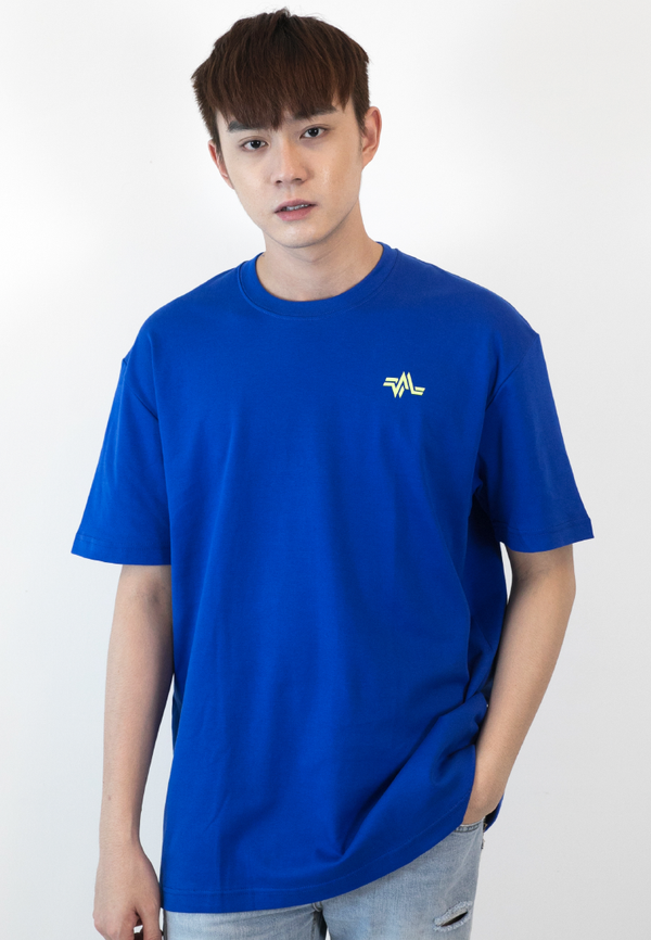 OVERSIZED REPETITION LOGO PRINT COTTON JERSEY T-SHIRT