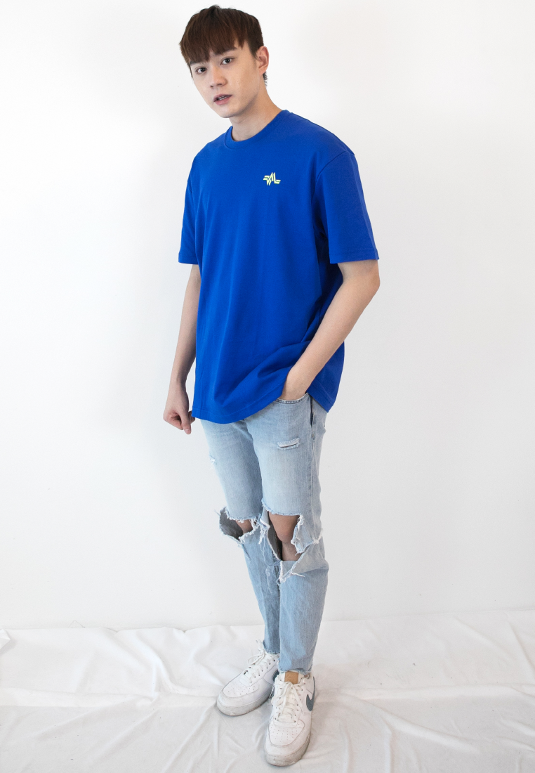 OVERSIZED REPETITION LOGO PRINT COTTON JERSEY T-SHIRT - Ohnii Official Site
