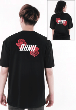 OVERSIZED LOGO FLORAL PRINT COTTON JERSEY TSHIRT V2 - Ohnii Official Site