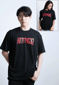 OVERSIZED ANTITHESIS PRINT COTTON JERSEY T-SHIRT - Ohnii Official Site
