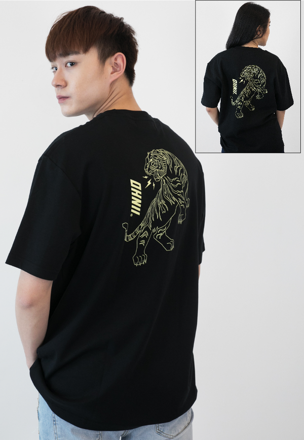 OVERSIZED TIGER PRINT COTTON JERSEY TSHIRT - Ohnii Official Site