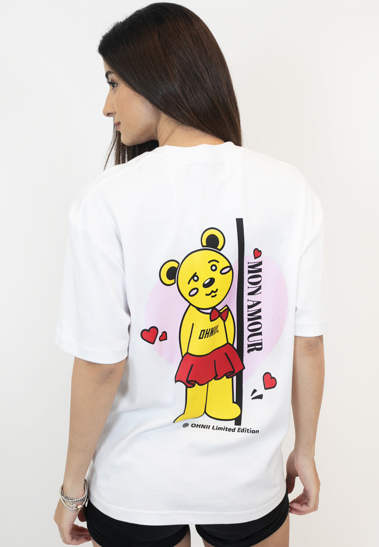 OVERSIZED TRUE LOVE BEAR COTTON JERSEY TSHIRT (FEMALE) - Ohnii Official Site