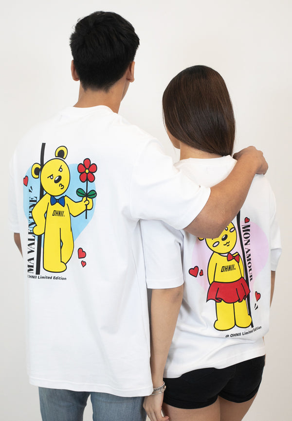 OVERSIZED TRUE LOVE BEAR COTTON JERSEY TSHIRT (MALE) - Ohnii Official Site
