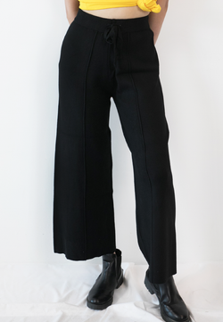 BLAQUIIN CUSTOMADE SKINNY KNIT WOMEN CULOTTES (BLACK)