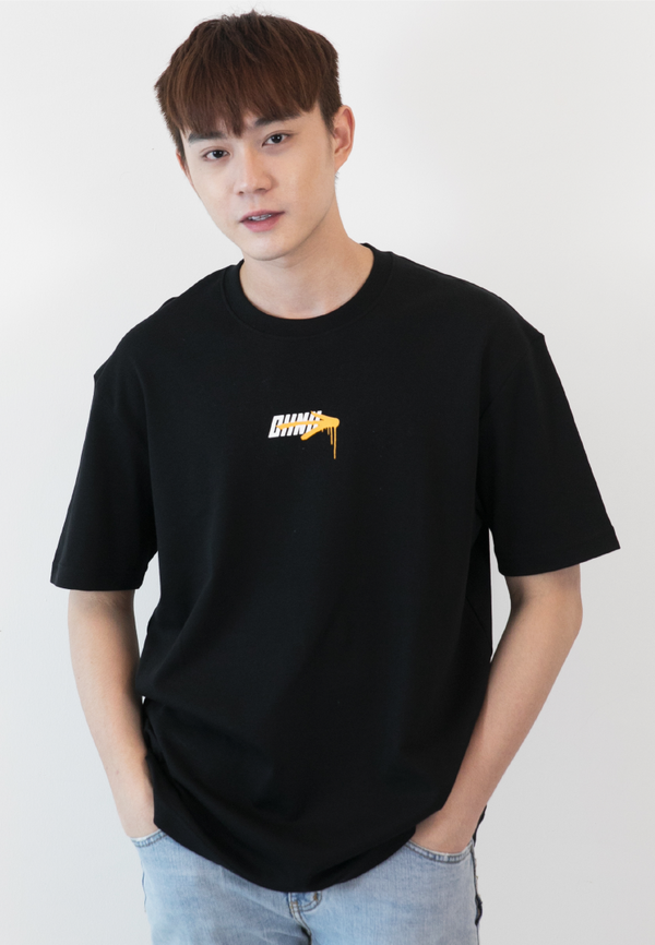 OVERSIZED I'MPOSSIBLE PRINT COTTON JERSEY TSHIRT - Ohnii Official Site