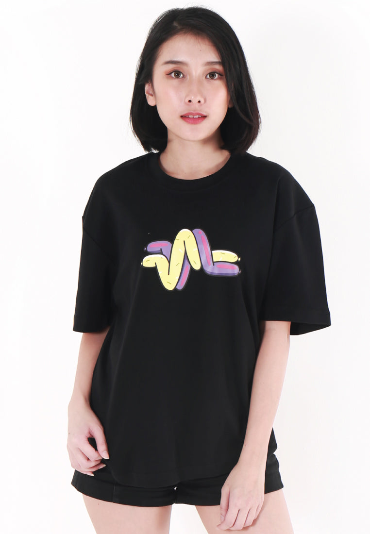 OVERSIZED LOGOMARK BALLOON PRINT COTTON JERSEY T-SHIRT - Ohnii Official Site