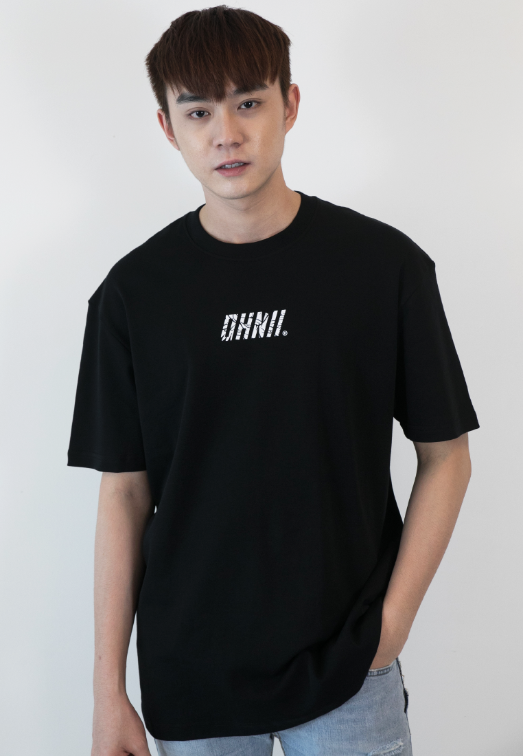 OVERSIZED GUARDIAN ANGEL PRINT COTTON JERSEY TSHIRT - Ohnii Official Site