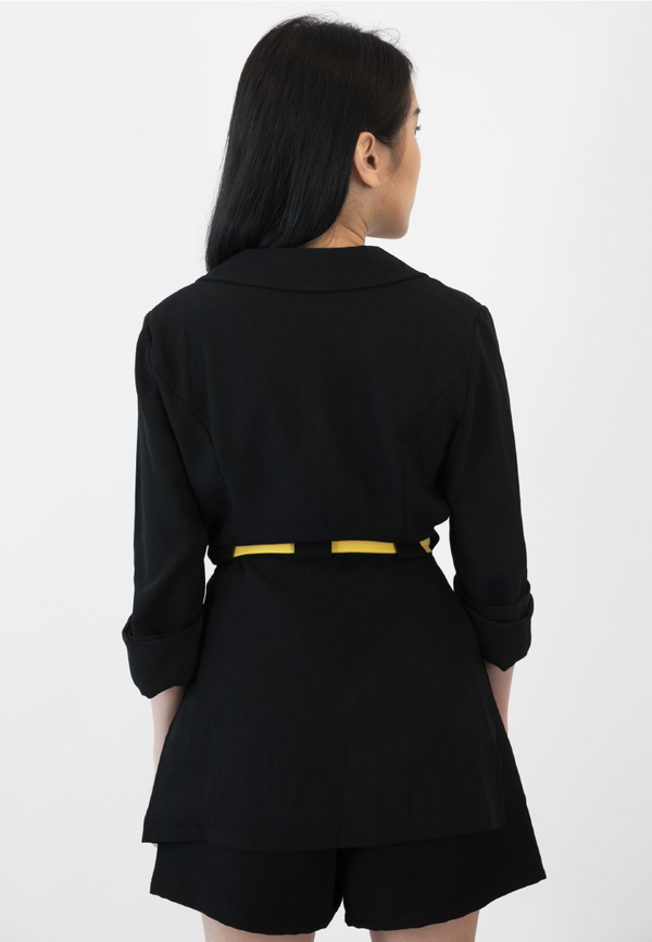 BLAQUIIN CUSTOMADE SIDE SPLIT WOMEN TAILORED ROBE - Ohnii Official Site