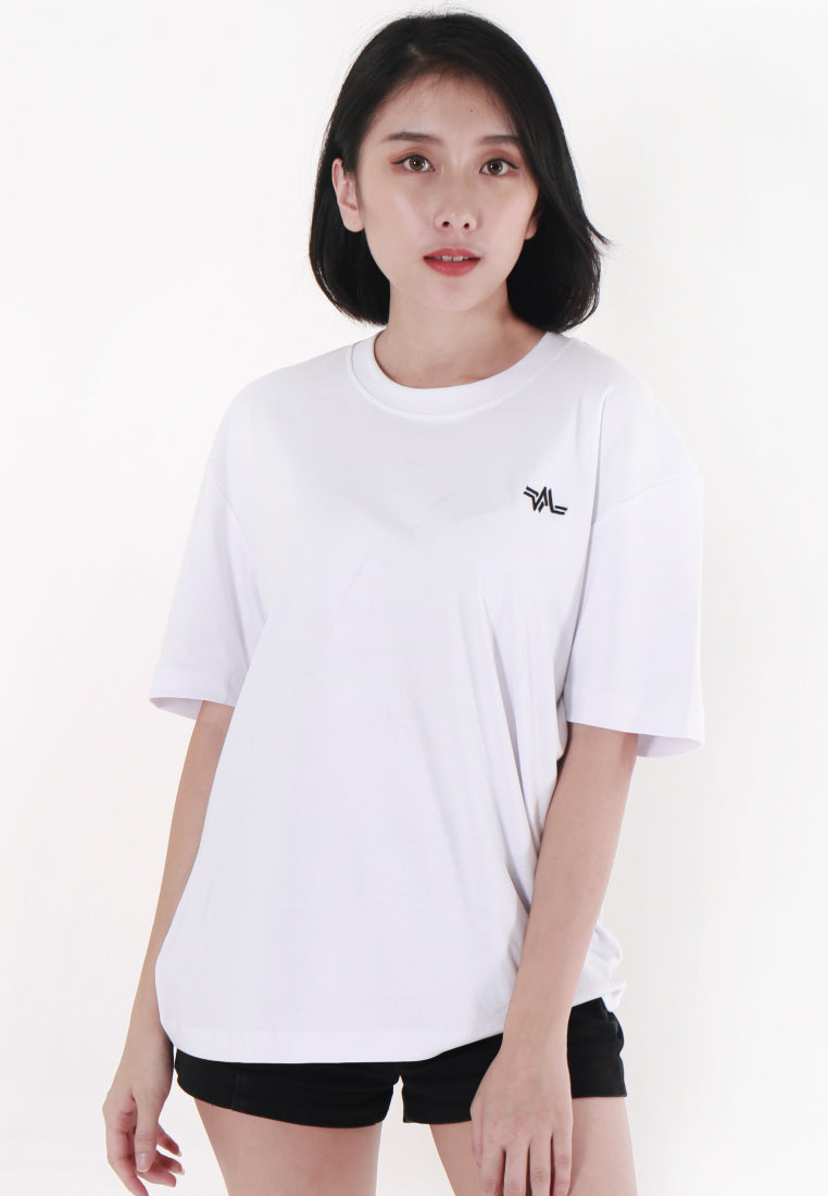 OVERSIZED EMBROIDERED LOGOMARK COTTON JERSEY T-SHIRT (WHITE) - Ohnii Official Site
