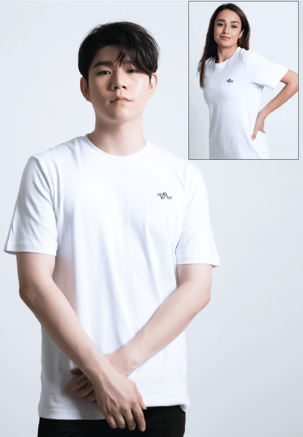 EMBROIDERED LOGOMARK COTTON JERSEY T-SHIRT (WHITE) - Ohnii Official Site