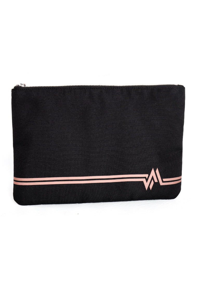 LOGOMARK PRINT ZIP POUCH (GOLD) - Ohnii Official Site