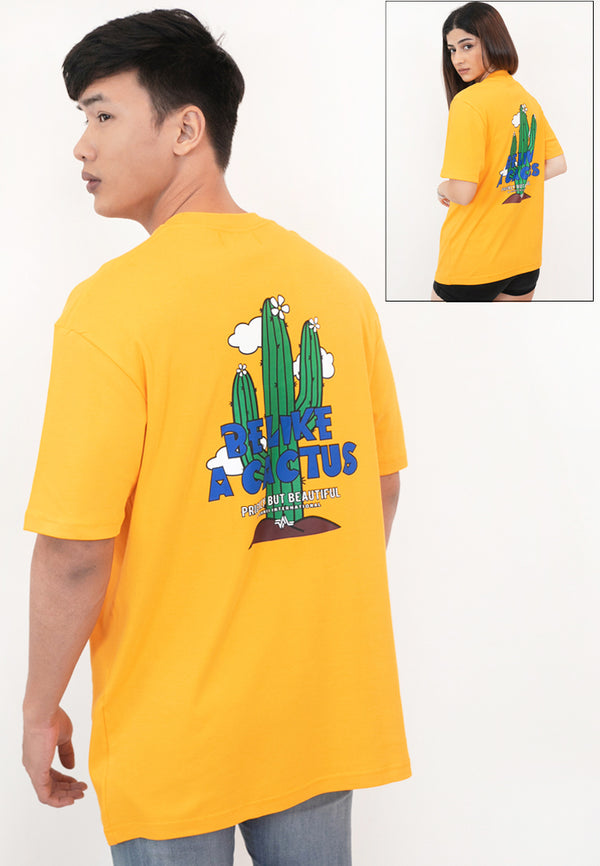 OVERSIZED BE LIKE A CACTUS COTTON JERSEY TSHIRT (YL)