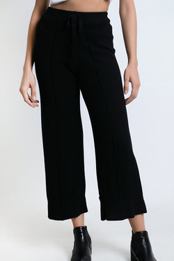 BLAQUIIN CUSTOMADE SKINNY KNIT WOMEN CULOTTES (BLACK) - Ohnii Official Site