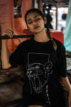 PRINTED MONOLINE FEARLESS LION T-SHIRT (LIMITED PRINT) - Ohnii Official Site