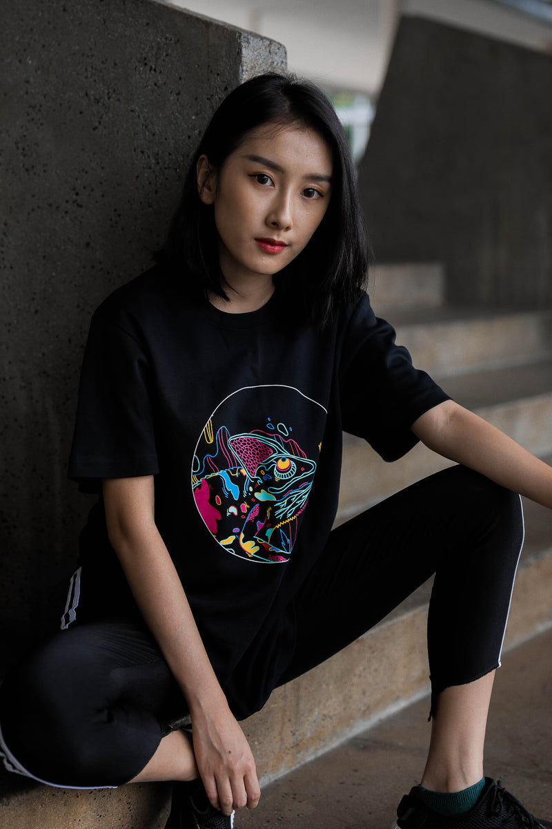 Chameleon-Print Cotton Jersey T-Shirt - Ohnii Official Site