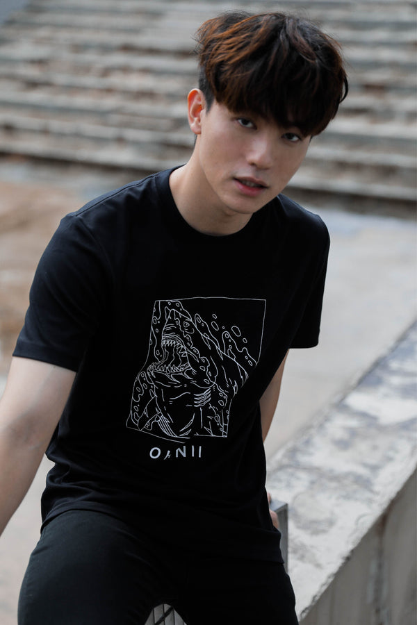 Fearless Shark-Print Cotton Jersey T-Shirt - Ohnii Official Site