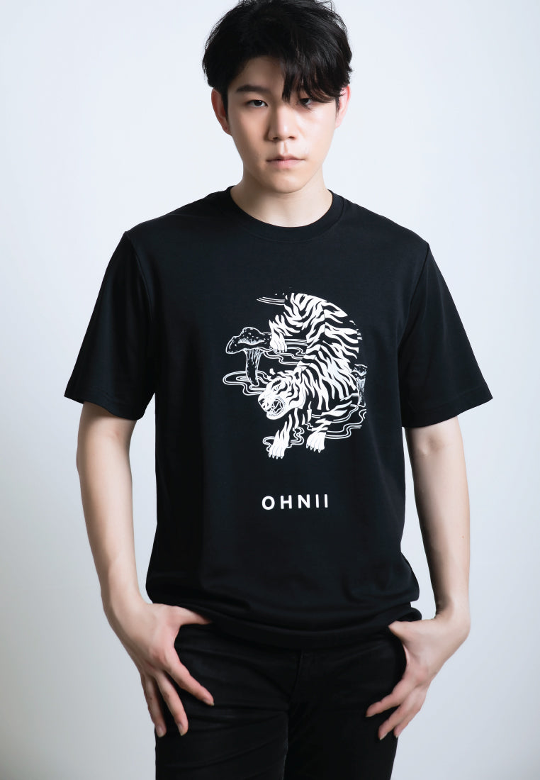 Fearless Tiger-Print Cotton Jersey T-Shirt - Ohnii Official Site