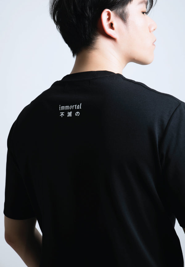 IMMORTAL PRINT COTTON JERSEY T-SHIRT - Ohnii Official Site