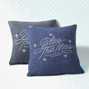"""Bless This Mess""<br> Custom Throw Pillow"