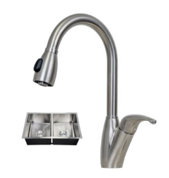 5050 Double Equal Bowl PerfecFlo™ Sink and a Lexington Faucet
