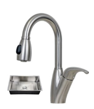 32X19 PerfecFlo™ Sink and a Brentwood Faucet