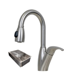 33X21 PerfecFlo™ Remodeling Apron Front Farmhouse  Sink and a Brentwood Faucet