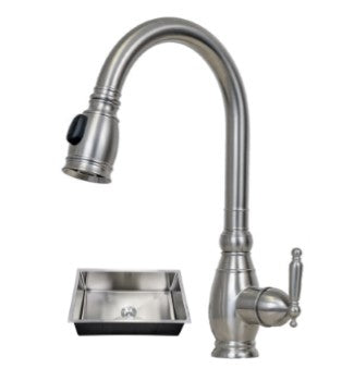 32X19 PerfecFlo™ Sink and a Hamilton Faucet