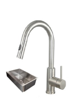 33X21 PerfecFlo™ Remodeling Apron Front Farmhouse  Sink and a Windsor Faucet